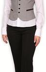 Kamizelka pasuje także do klasycznych spodni.