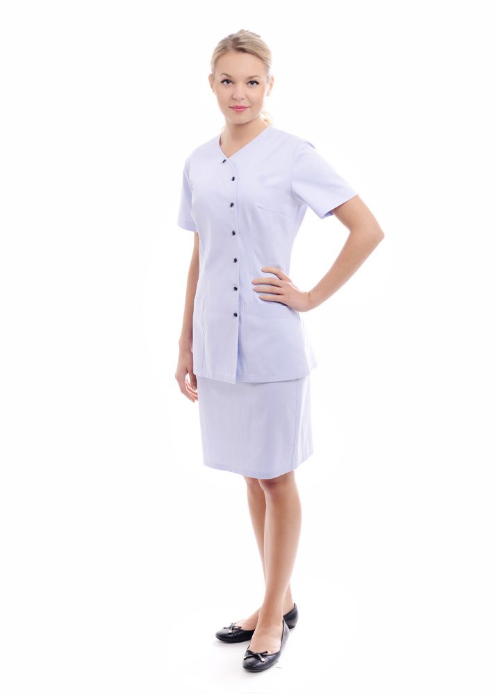 odziez-do-hotelu-SPA-sluzba-hotelowa-ubranie-SPA-gabinet-kosmetyczny-odziez-pracownicza-spodnica-przod
