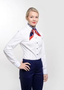 odziez-hotelowa-damska-bluzka-recepcja-koszula-biala-wykonczeniem-paski-granatowo-biale-4
