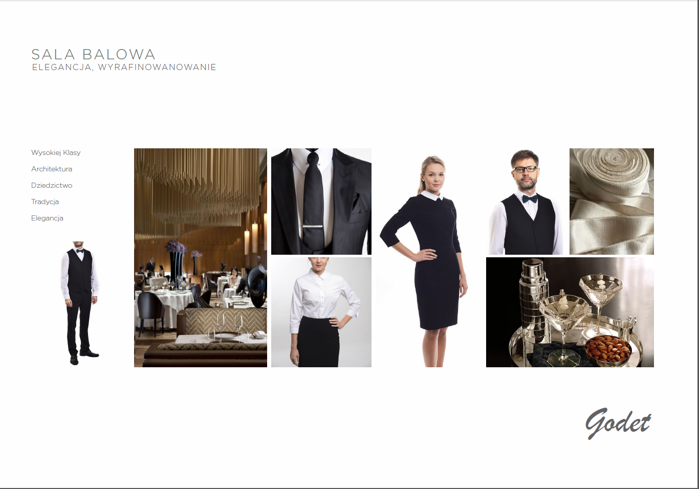 Odziez hotelowa - sala balowa elegancja klasa jakosc tradycja szycie
