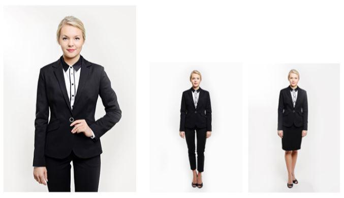 odziez-hotelowa-garnitur-damski-czarny-elegancki-recepcja-spodnie-spodnica-garsonka-zakiet-kamizelka
