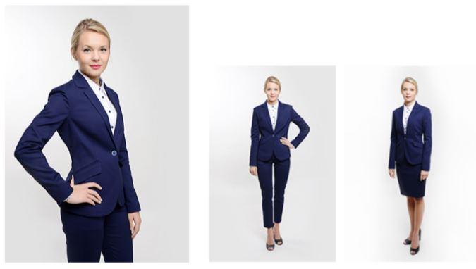 odziez-hotelowa-garnitur-damski-granatowy-elegancki-recepcja-spodnie-spodnica-garsonka-zakiet-kamizelka