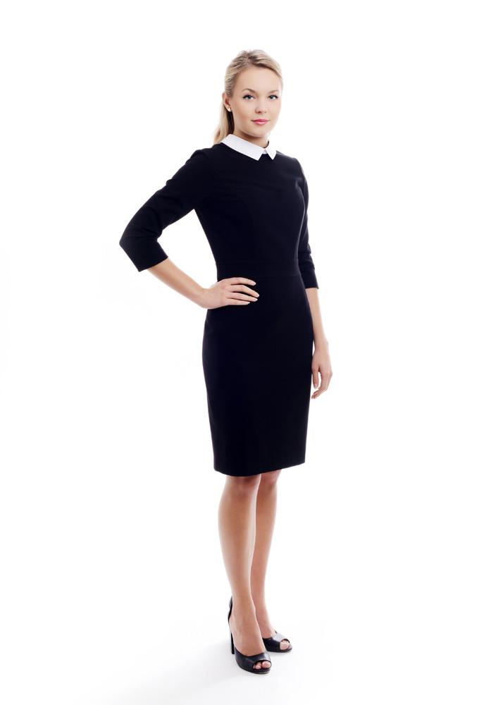 odziez-hotelowa-recepcja-ubranie-sukienka-dopasowana-recepcja-czarna